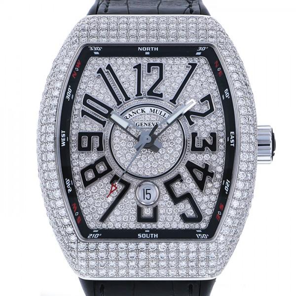フランク・ミュラー FRANCK MULLER ヴァンガード ダイヤモンド V45SC DT D CD AC NR 全面ダイヤ文字盤 メンズ 腕時計 【中古】