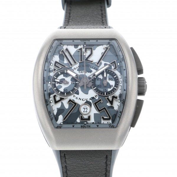 【全品 ポイント10倍 4/9~4/16】フランク・ミュラー FRANCK MULLER ヴァンガード カモフラージュ クロノグラフ V45 CC DT CAMOUFLAGE グレー文字盤 メンズ 腕時計 【中古】