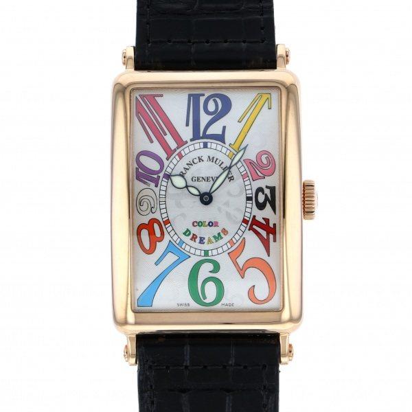 フランク・ミュラー FRANCK MULLER ロングアイランド カラードリーム 1200SC COL DRM シルバー文字盤 メンズ 腕時計 【中古】