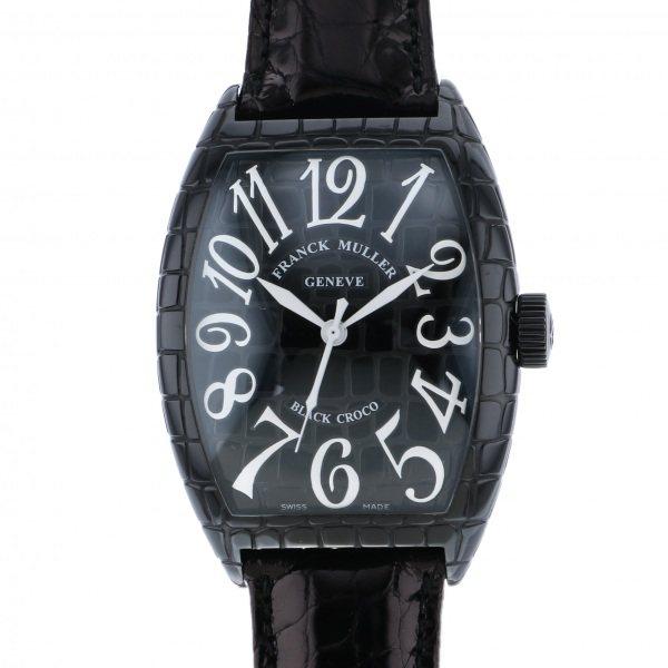 【全品 ポイント10倍 4/9~4/16】フランク・ミュラー FRANCK MULLER トノウカーベックス ブラッククロコ 9880SCBLKRO ブラック文字盤 メンズ 腕時計 【中古】