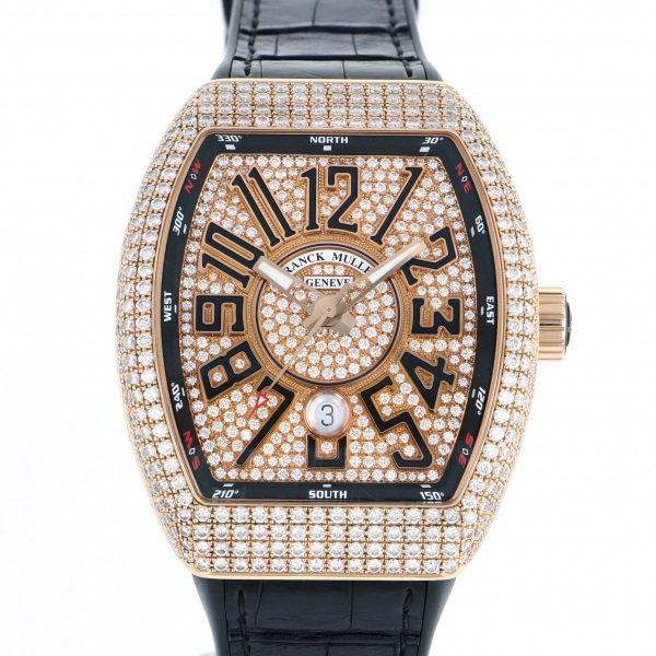 フランク・ミュラー FRANCK MULLER ヴァンガード V45SC DT D CD 5N NR 全面ダイヤ文字盤 メンズ 腕時計 【中古】