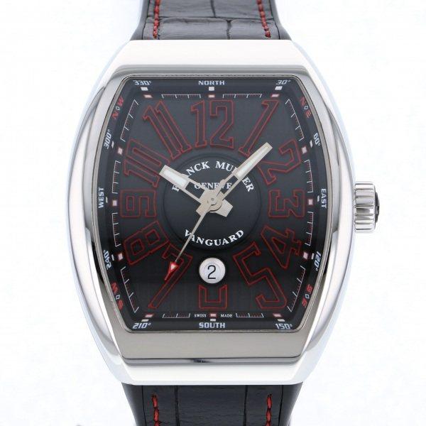 フランク・ミュラー FRANCK MULLER ヴァンガード V45SC DT J AC NR ブラック文字盤 メンズ 腕時計 【中古】