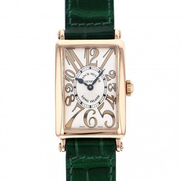 フランク・ミュラー FRANCK MULLER ロングアイランド レリーフ 902QZ REL シルバー文字盤 レディース 腕時計 【中古】