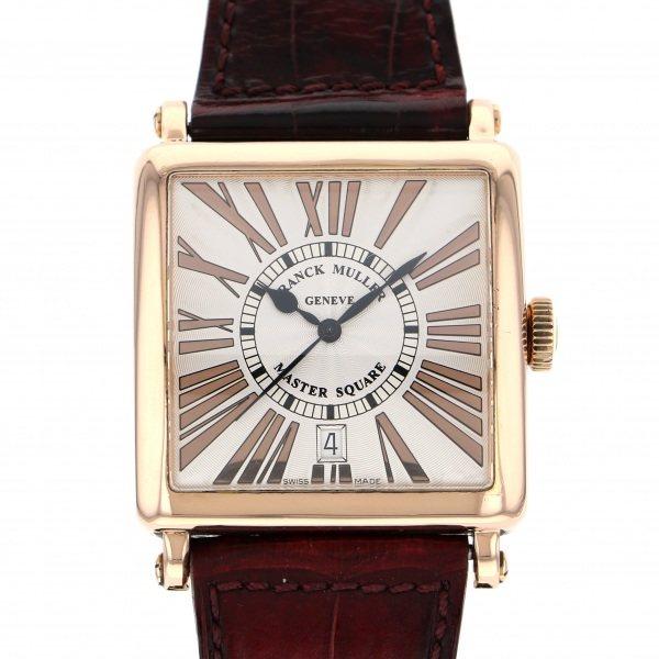 フランク・ミュラー FRANCK MULLER マスタースクエア 6000HSCDT シルバー文字盤 メンズ 腕時計 【中古】
