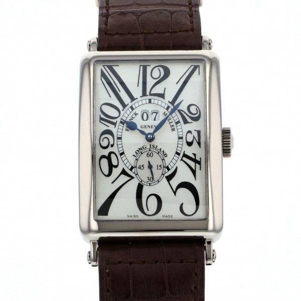 フランク・ミュラー FRANCK MULLER ロングアイランド グランギシェ 1200 S6 GG シルバー文字盤 メンズ 腕時計 【中古】