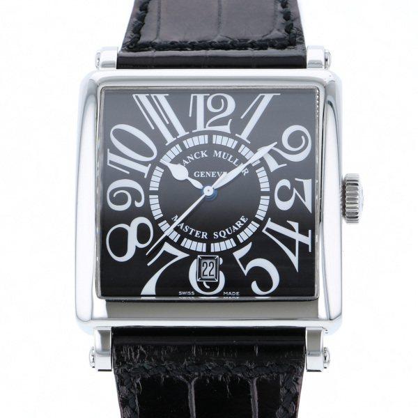 フランク・ミュラー FRANCK MULLER マスタースクエア 6000H SC DT ブラック文字盤 メンズ 腕時計 【中古】