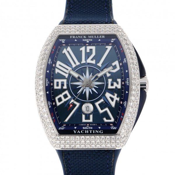 フランク・ミュラー FRANCK MULLER ヴァンガード ヨッティング ダイヤモンド V45SC DT D YACHTING AC BL ブルー文字盤 メンズ 腕時計 【新品】
