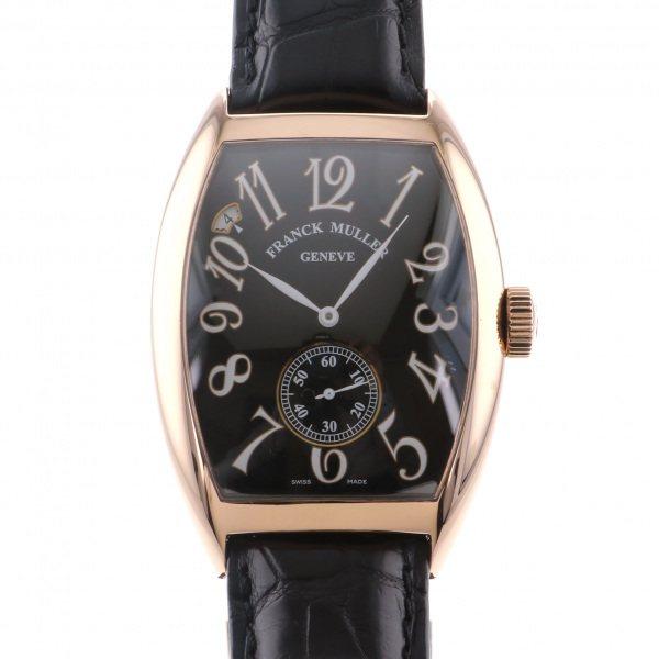 フランク・ミュラー FRANCK MULLER トノウカーベックス 7デイズ パワーリザーブ 8880 B S6 PR EMA ブラック文字盤 メンズ 腕時計 【中古】