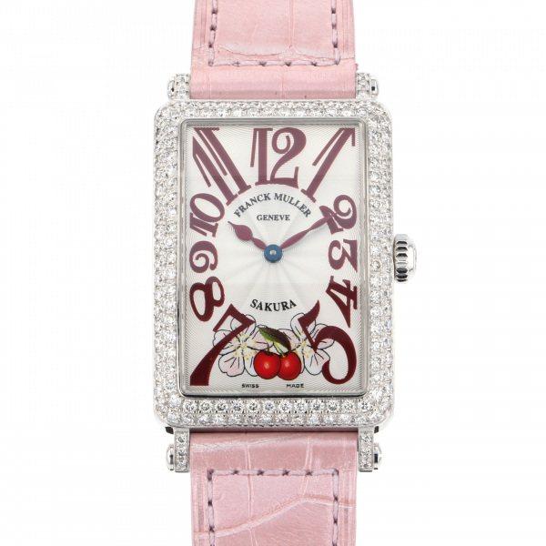 フランク・ミュラー FRANCK MULLER ロングアイランド SAKURA 952QZ D シルバー文字盤 レディース 腕時計 【中古】