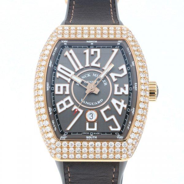 フランク・ミュラー FRANCK MULLER ヴァンガード V45SC DT D 5N TT グレー文字盤 メンズ 腕時計 【中古】