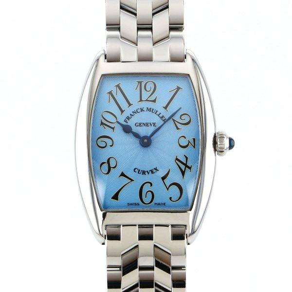 フランク・ミュラー FRANCK MULLER トノウカーベックス 1752QZ ライトブルー文字盤 レディース 腕時計 【中古】