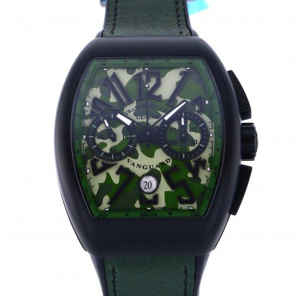 フランク・ミュラー FRANCK MULLER ヴァンガード カモフラージュ クロノグラフ V45SC DT TT NR グリーンカモフラージュ文字盤 メンズ 腕時計 【新品】
