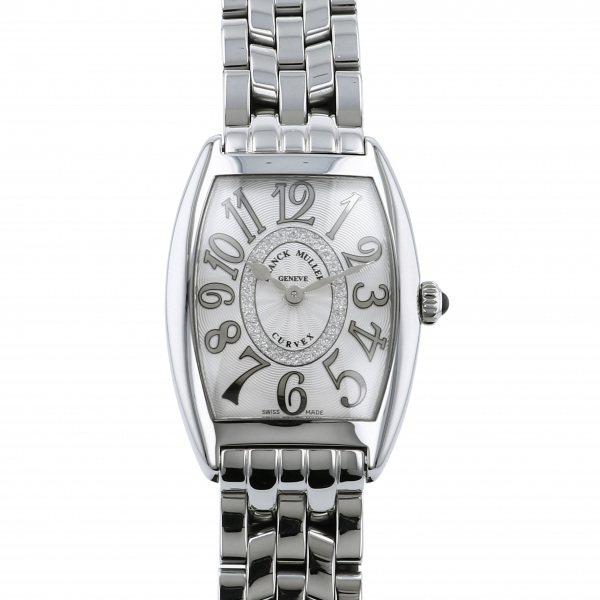 フランク・ミュラー FRANCK MULLER トノウカーベックス レリーフ ダイヤモンド 1752BQZ REL CD 1R シルバー文字盤 レディース 腕時計 【新品】