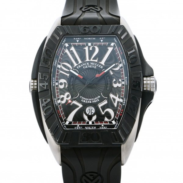 【期間限定ポイント5倍 5/5~5/31】 フランク・ミュラー FRANCK MULLER コンキスタドール グランプリ 8900SC DT GPG TT NR TT ブラック文字盤 メンズ 腕時計 【中古】