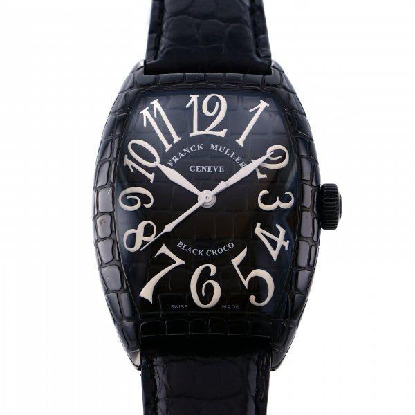 フランク・ミュラー FRANCK MULLER トノウカーベックス ブラッククロコ 8880SC BLK CRO ブラック文字盤 メンズ 腕時計 【中古】