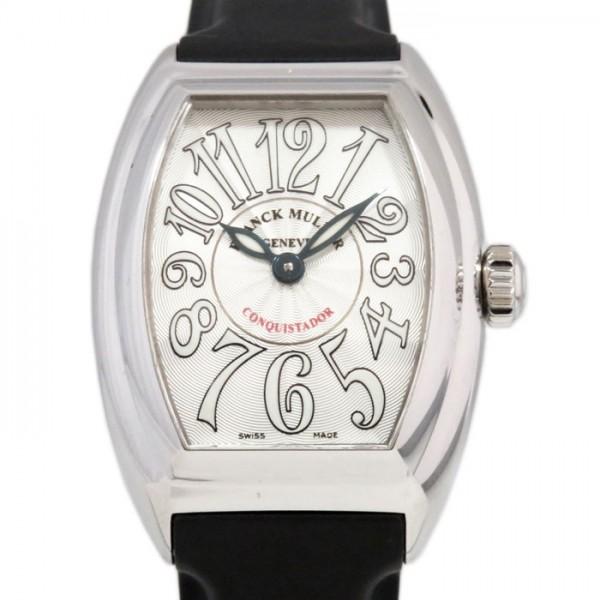 フランク・ミュラー FRANCK MULLER コンキスタドール 8005LQZ シルバー文字盤 レディース 腕時計 【新古品】