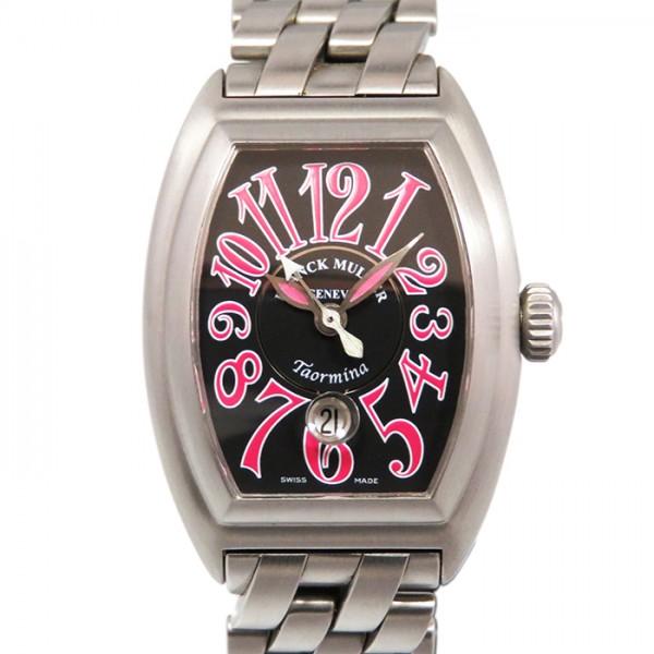 フランク・ミュラー FRANCK MULLER コンキスタドール 8005LSCTAORMINA ブラック文字盤 レディース 腕時計 【新古品】