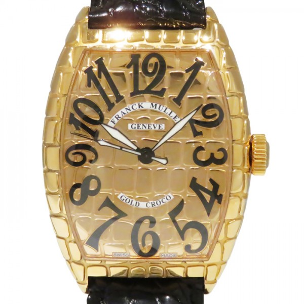フランク・ミュラー FRANCK MULLER トノウカーベックス ゴールドクロコ 8880SC GOLD CRO ゴールド文字盤 メンズ 腕時計 【新品】