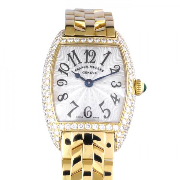 フランク・ミュラー FRANCK MULLER トノウカーベックス インターミディエ ベゼルダイヤ 2250QZD シルバー文字盤 レディース 腕時計 【中古】