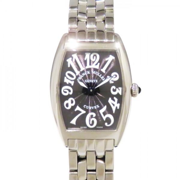 フランク・ミュラー FRANCK MULLER トノウカーベックス 1752QZ ブラック文字盤 レディース 腕時計 【新品】