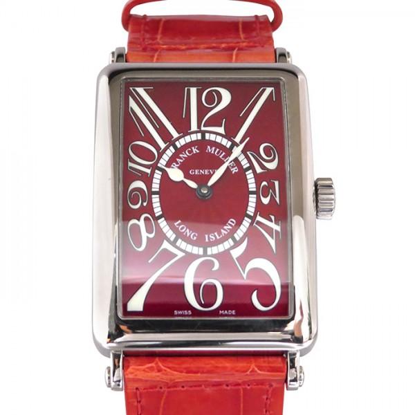 フランク・ミュラー FRANCK MULLER ロングアイランド ロングアイランド 1000SC レッド文字盤 メンズ 腕時計 【中古】
