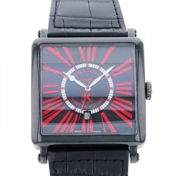 フランク・ミュラー FRANCK MULLER マスタースクエア 世界25本限定 6000KS CD DT ブラック文字盤 メンズ 腕時計 【中古】