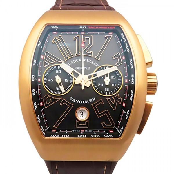 フランク・ミュラー FRANCK MULLER ヴァンガード クロノグラフ V45CCDT 5N ブラック文字盤 メンズ 腕時計 【新品】