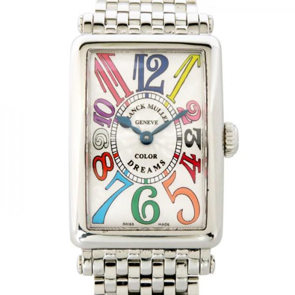 フランク・ミュラー FRANCK MULLER ロングアイランド カラードリーム 902QZ COL DRM シルバー文字盤 レディース 腕時計 【中古】