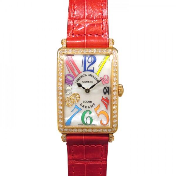 フランク・ミュラー FRANCK MULLER ロングアイランド カラードリーム 952QZ COL DRM MOP D1R 8CD ホワイト文字盤 レディース 腕時計 【新品】