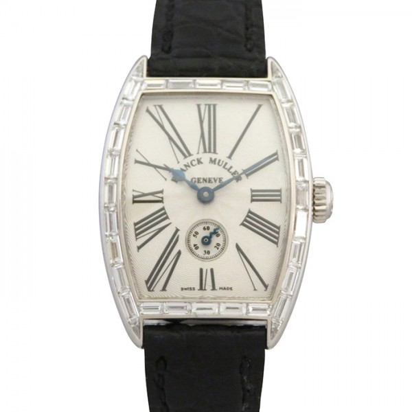 フランク・ミュラー FRANCK MULLER トノウカーベックス バケットダイヤ 1750S6 BAG ホワイト文字盤 レディース 腕時計 【中古】
