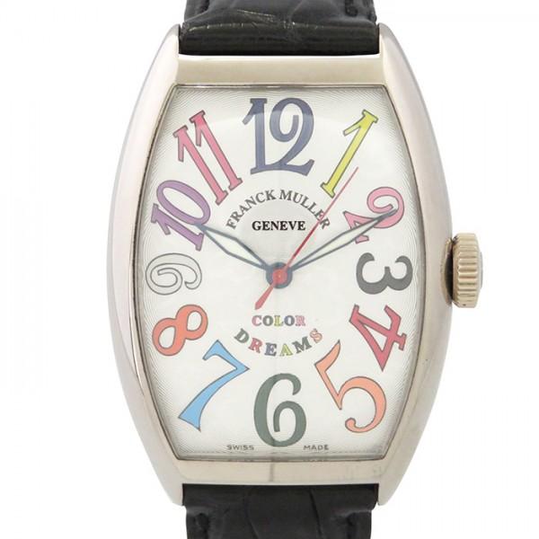 フランク・ミュラー FRANCK MULLER トノウカーベックス カラードリーム 5850SC COL DRM シルバー文字盤 メンズ 腕時計 【中古】