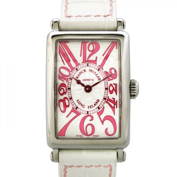 フランク・ミュラー FRANCK MULLER ロングアイランド 日本限定500本 902QZJ シルバー文字盤 レディース 腕時計 【中古】