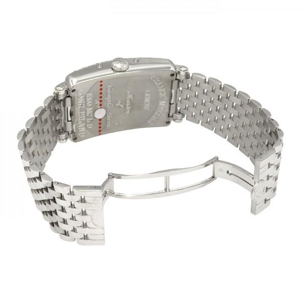フランク・ミュラー FRANCK MULLER ロングアイランド マスターカレンダー ムーンフェイズ 1200MCLD ボルドー文字盤 メンズ 腕時計 【新品】