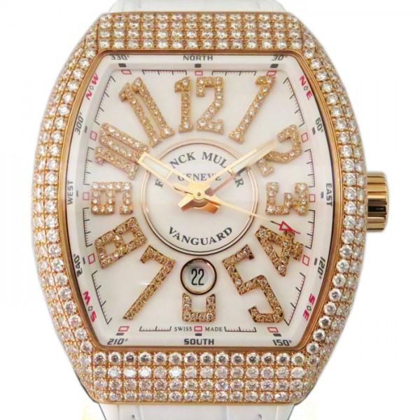 フランク・ミュラー FRANCK MULLER ヴァンガード V45SC DT D NBR CD 5N BC ホワイト文字盤 メンズ 腕時計 【新品】