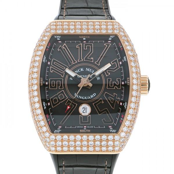 フランク・ミュラー FRANCK MULLER ヴァンガード ケースダイヤ V45SC DT D 5N NR ブラック文字盤 メンズ 腕時計 【中古】