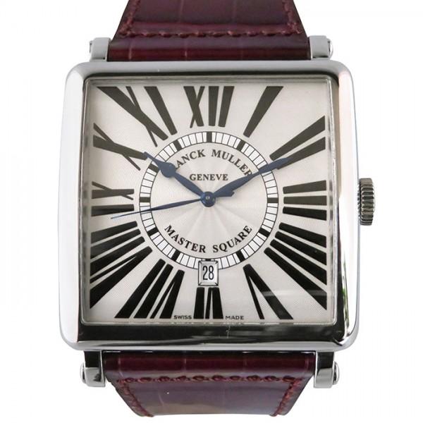 【全品 ポイント10倍 4/9~4/16】フランク・ミュラー FRANCK MULLER マスタースクエア 6000KSC DT R シルバー文字盤 メンズ 腕時計 【中古】