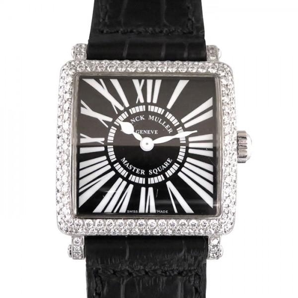 フランク・ミュラー FRANCK MULLER マスタースクエア 6002S QZ D ブラック文字盤 レディース 腕時計 【中古】