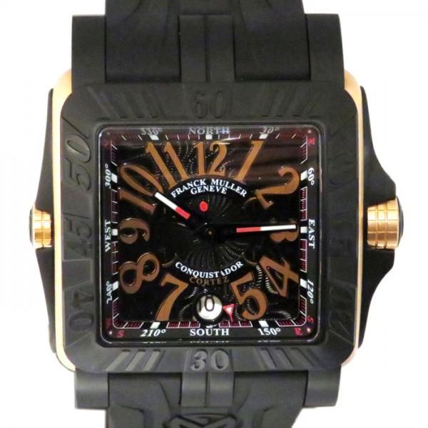 フランク・ミュラー FRANCK MULLER コンキスタドール コルテス グランプリ 10800SCDT GPG ブラック文字盤 メンズ 腕時計 【新品】