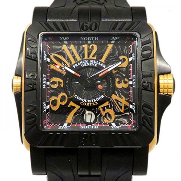 フランク・ミュラー FRANCK MULLER コンキスタドール コルテス グランプリ 10800SCDTTTNRGP ブラック文字盤 メンズ 腕時計 【新品】