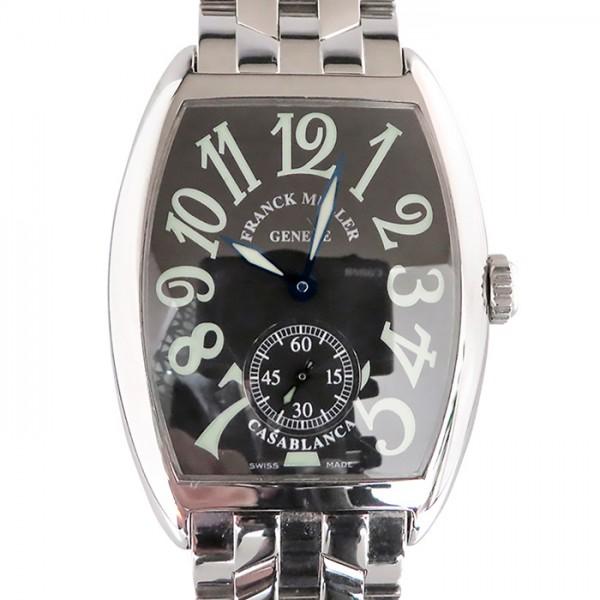 フランク・ミュラー FRANCK MULLER カサブランカ 7500CASA ブラック文字盤 メンズ 腕時計 【中古】