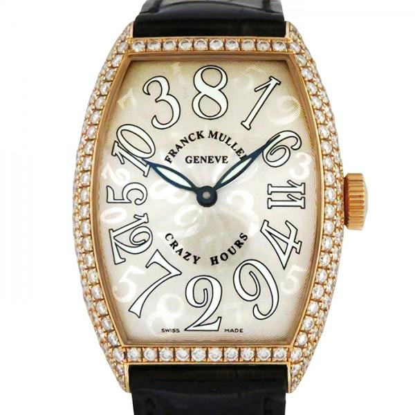 フランク・ミュラー FRANCK MULLER トノウカーベックス クレイジーアワーズ 5850CH D シルバー文字盤 メンズ 腕時計 【中古】