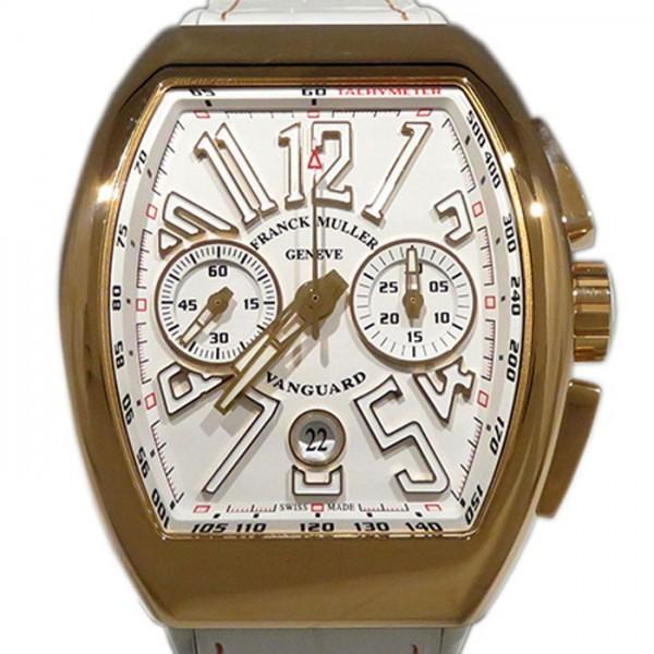 フランク・ミュラー FRANCK MULLER ヴァンガード クロノグラフ V45CC DT 5N BC ホワイト文字盤 メンズ 腕時計 【新品】