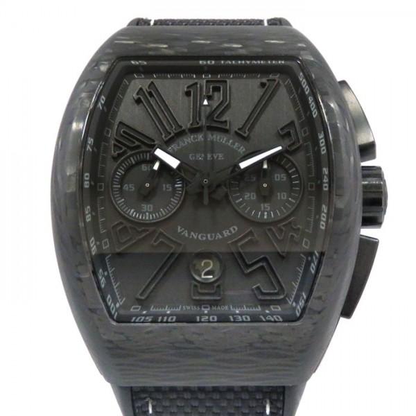 フランク・ミュラー FRANCK MULLER ヴァンガード クロノグラフ V45CC DT CARBON NR ブラック文字盤 メンズ 腕時計 【新古品】