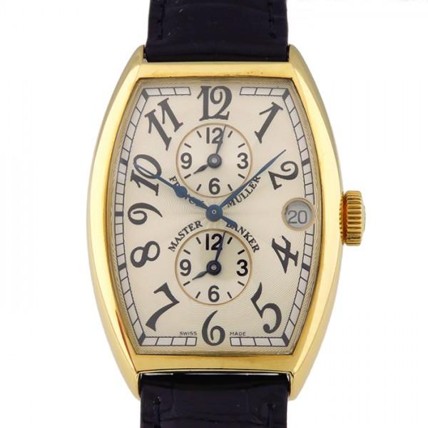フランク・ミュラー FRANCK MULLER トノウカーベックス マスターバンカー 5850MB シルバー文字盤 メンズ 腕時計 【中古】