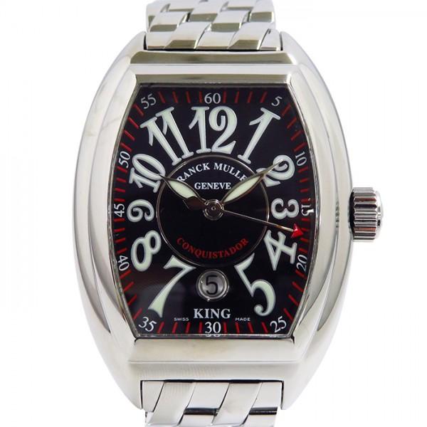 フランク・ミュラー FRANCK MULLER コンキスタドール キング 8005K SC ブラック文字盤 メンズ 腕時計 【中古】