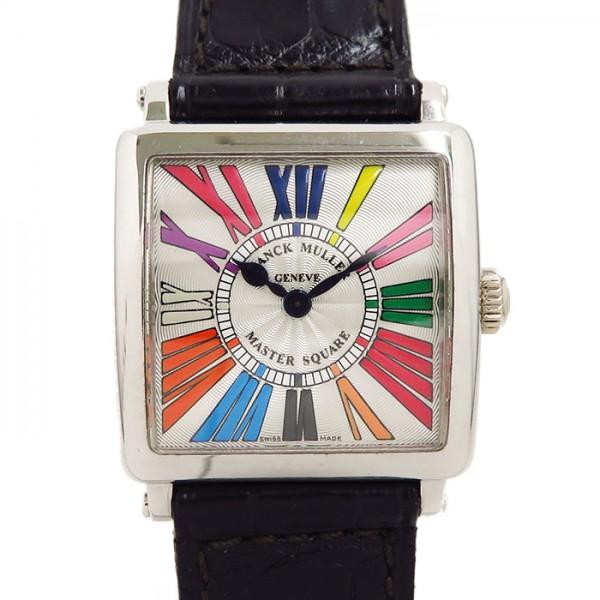 フランク・ミュラー FRANCK MULLER マスタースクエア 6002SQZ COL DRM シルバー文字盤 レディース 腕時計 【中古】