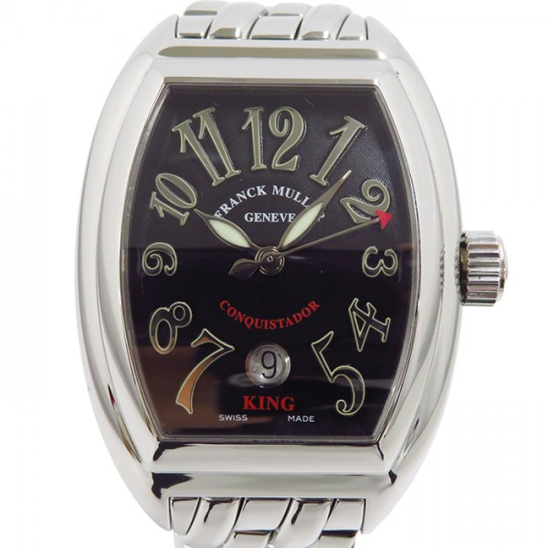 フランク・ミュラー FRANCK MULLER コンキスタドール キング 8002SC KING ブラック文字盤 メンズ 腕時計 【中古】