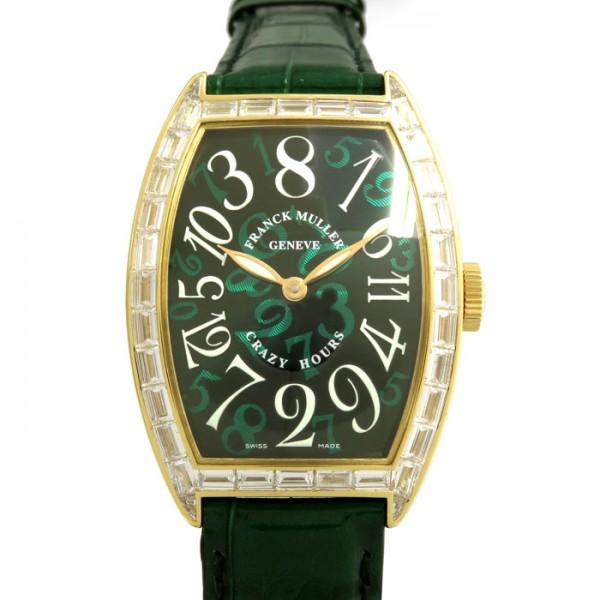 フランク・ミュラー FRANCK MULLER トノウカーベックス クレイジーアワーズ バケットダイヤモンド 5850CH D グリーン文字盤 メンズ 腕時計 【新品】