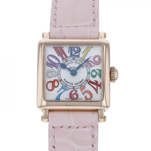 フランク・ミュラー FRANCK MULLER マスタースクエア 6002PQZ シルバー文字盤 レディース 腕時計 【中古】