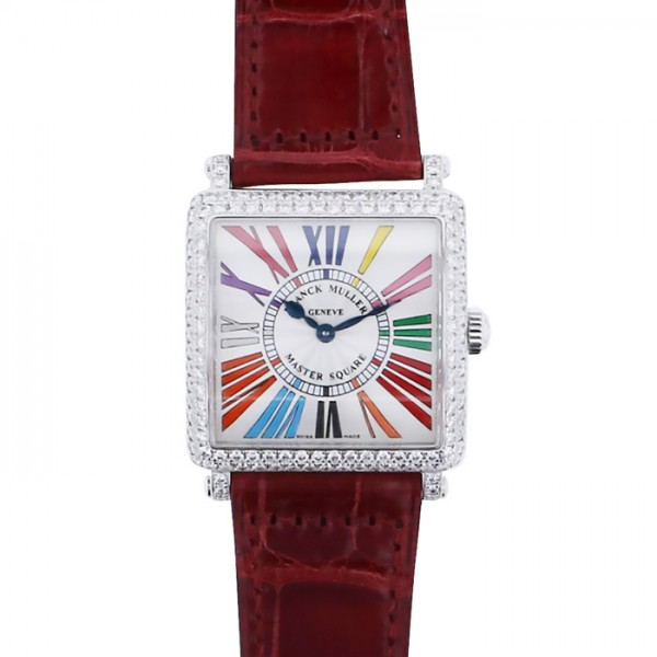 フランク・ミュラー FRANCK MULLER マスタースクエア 6002LQZD COLDREOG シルバー文字盤 レディース 腕時計 【新品】